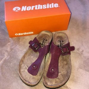 North side sandals. Brand new in box